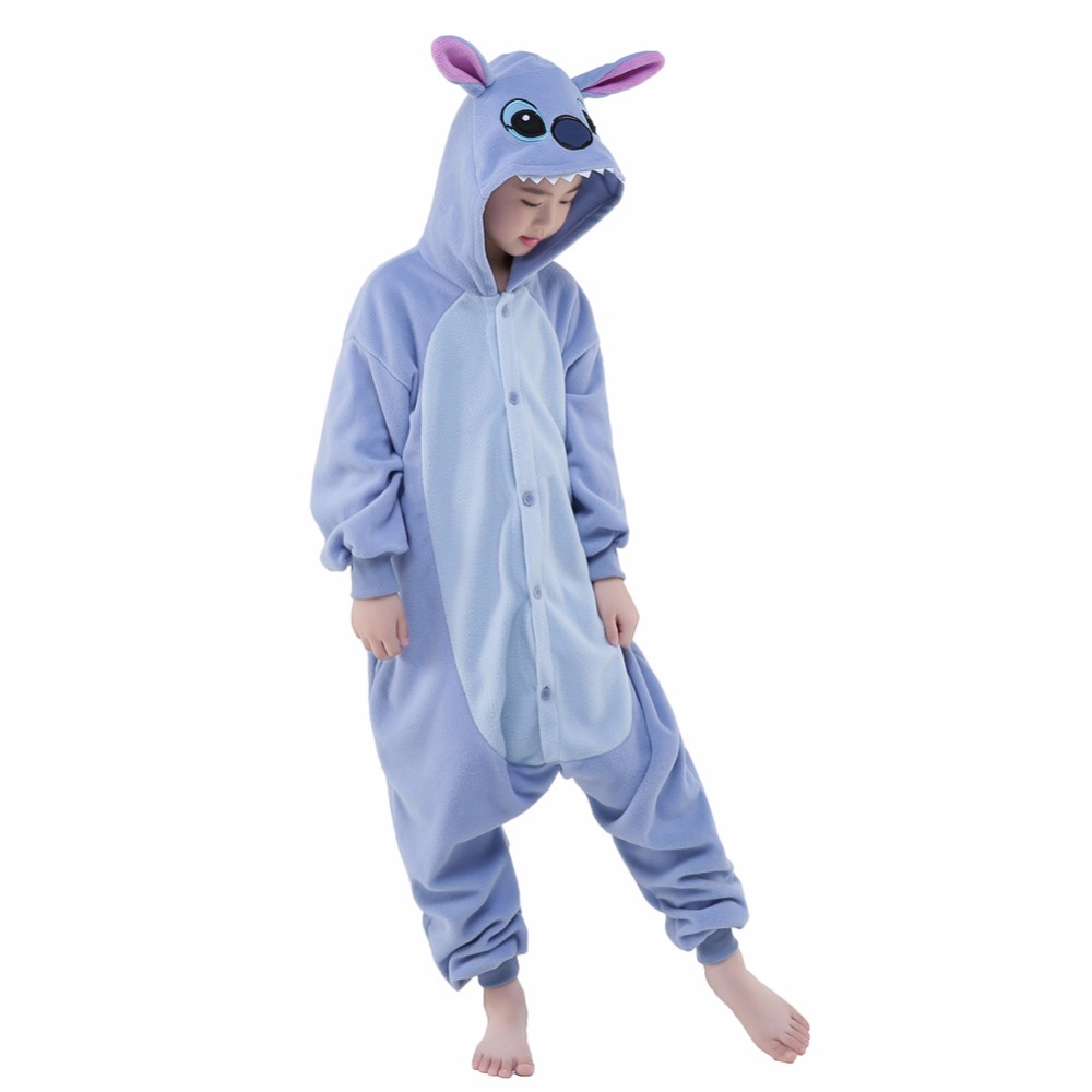 a003a1f5e Newcosplay Unisex Anime Cosplay Costume Cartoon Blue Stitch Pajamas ...