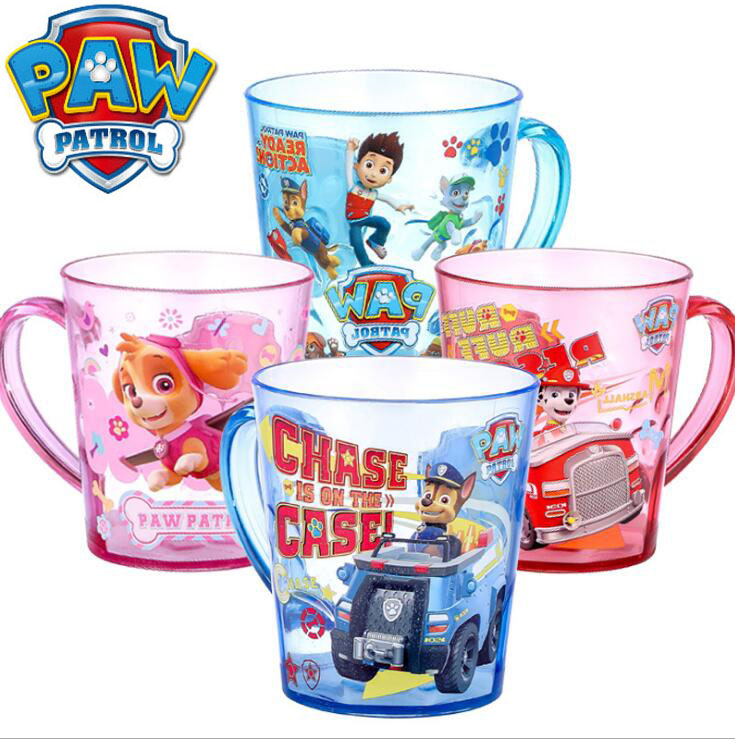 Hot Sale Genuine Paw Patrol 1Pc Kids Tritan Cute Cup With Handle Chase Ryder Everest Apollo Tracker Skye Spoon Children Toy