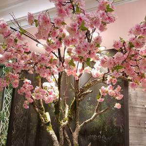 Cherry Blossom Flower Branch Garden-Decoration Artificial-Plant Oriental Sakura Home