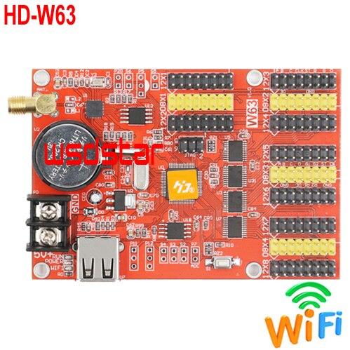 HD W63 4 HUB08 8 HUB12 1024 128 USB WIFI LED display control card Single Dual