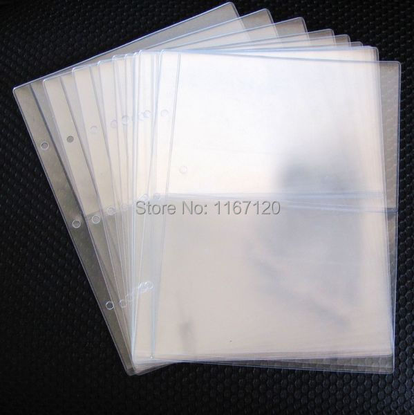 20pcslot Wholesale 2 Pockets Clear Currency Paper Stamp
