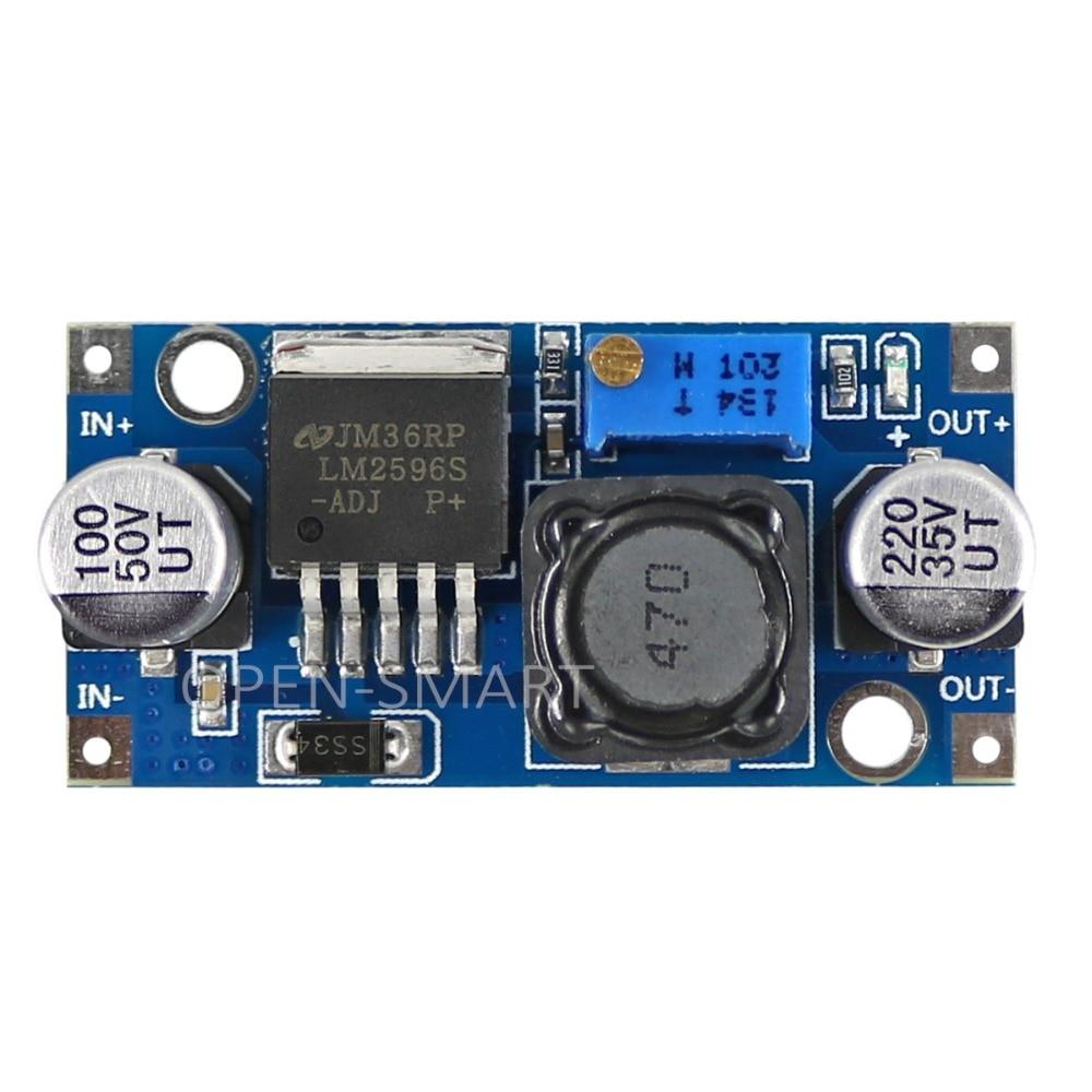 LM2596 DC-DC Voltage Stabilizer/Regulator Module 5V / 12V / 24V Adjustable For Arduino / Raspberry Pi / AVR / ARM
