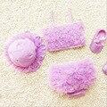 Niños traje de baño bikini 3 unid/set 2017 disfraces infantiles de la muchacha traje de dos piezas niños niñas traje de baño de natación niñas