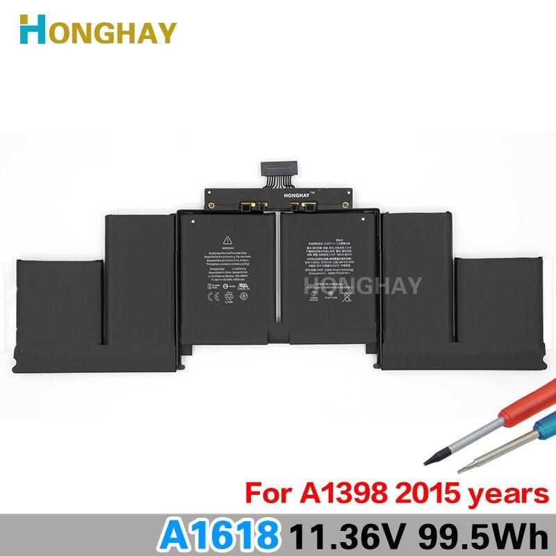 Honghay A1618 batterie d'ordinateur portable pour Apple ou Macbook Pro 15