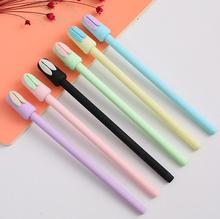 6 pcs/pack Macarons Jelly Color Lazy Rabbit Long Ears 0.5mm Gel Pen Ink Pen Promotional Gift Stationery School & Office Supply