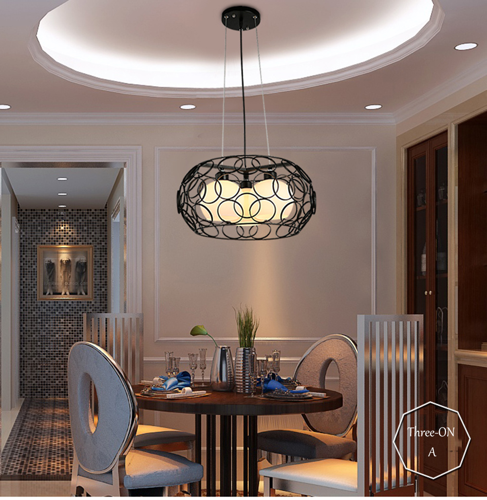 LED Chandelier Wrought Iron Installation 110-220v Vintage Loft Gloss Lighting E27 Lamps Porch Iron Chandelier Luminaria vintage clothing store personalized art chandelier chandelier edison the heavenly maids scatter blossoms tiny cages