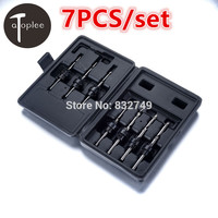 7 PCS Drill Bits Dremel Power Tools Woodworking HSS Drilling Drill Bit Set Size 5 12
