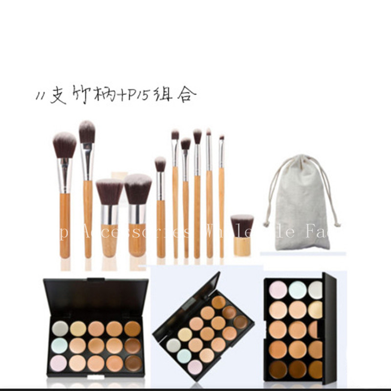 Professional Bamboo Face 6pcs/11pcs Eyeshadow Lip Eyeliner Brushes Soft Hair Makeup Brushes Set Eye Make Up Cosmetic Brush 6pcs purple pink hair makeup brushes professional flat eyelashes eyeshadow brush cleaner eye make up eyeliner blusher face brush