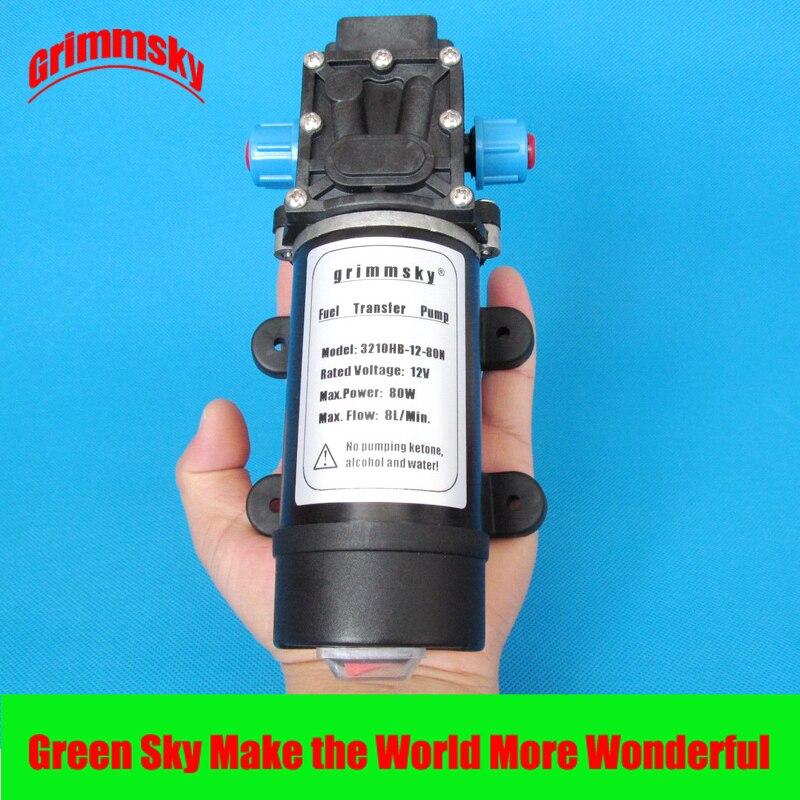 Haut débit 8L/Min 80 w 12 v DC huile fluide extracteur transfert