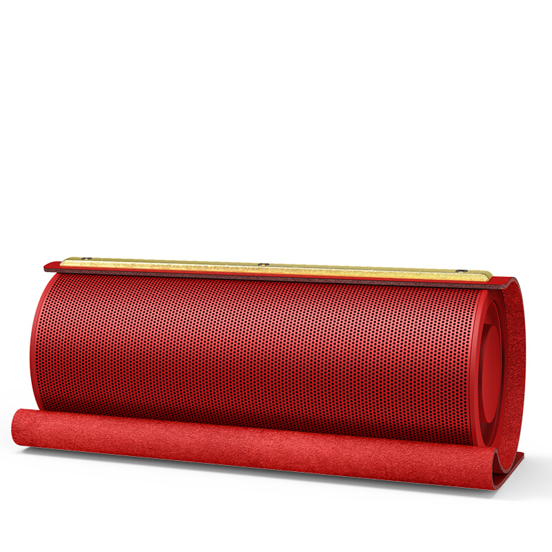 Cylindrical Super Bass Bluetooth Speaker Portable Wireless Speaker 3D Stereo Music Surround Bluetooth Speaker Leather Speaker недорго, оригинальная цена