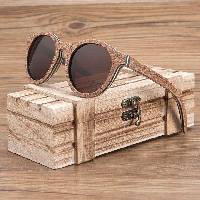 ボボ鳥男性女性サングラス木製猫目サングラス女性眼鏡高級手作り竹木箱