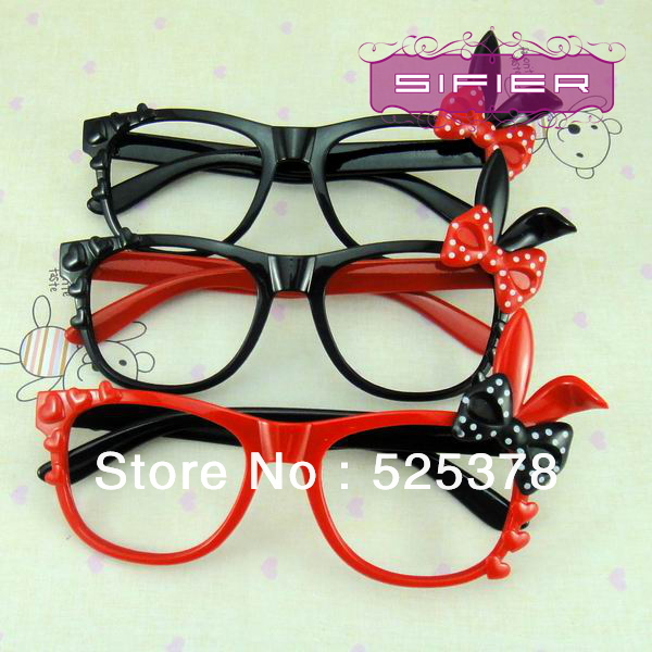 5dc03eaa4b Free Shipping Hello Kitty Eyeglasses Baby Glasses Cute Beard Cat Glasses  Frames High Quality Without Lens