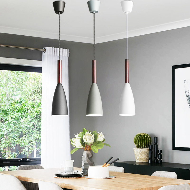 LukLoy Modern Pendant Lights LED Kitchen Lights LED Lamp Bedside Hanging Lamp Ceiling Lamps Bedroom Living Room Lighting Fixture