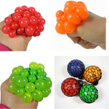 1Pc 2016 Hot Cute Anti Stress Face Reliever Grape Ball Autism Mood Squeeze Relief Healthy Toy