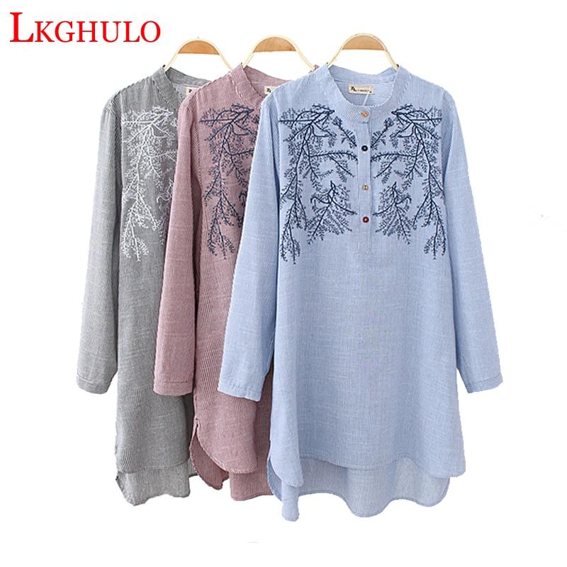 Longue Blouse Gray Kimono A514 Mujer Chemise Tops Blue Tunique Automne La black Rayée Femmes Taille pink À Casual Longues Plus Blusas Manches Surdimensionné wzq1g5T