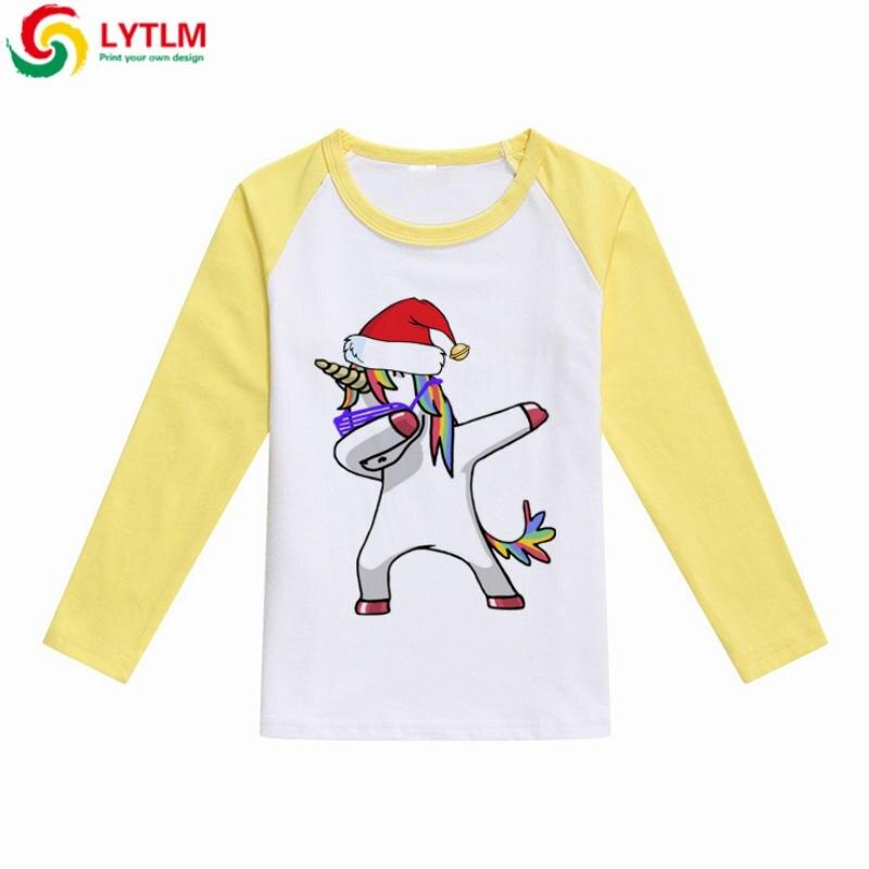 0fe350fb8 LYTLM Christmas Shirt Kids Boys Funny Clothes Baby Hip Hop Dabbing Unicorn Long  Sleeve Girls Teens T Shirts Children Boys Shirts-in T-Shirts from Mother ...