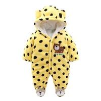 Newborn Baby Boy Clothing Fleece Winter Girl Romper Cartoon Infant Babies Clothes Meninas Bear Down Snowsuit