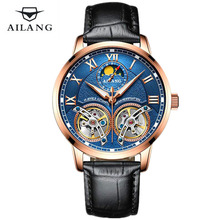AILANG Casual Fashion Tourbillon Watch Men Waterproof Luxury Brand Mechanical Watches Relogio masculino Clock Gold Wristwatch ailang brand men s business deluxe yingang mechanical 5 point small seconds date light men s fashion casual watch