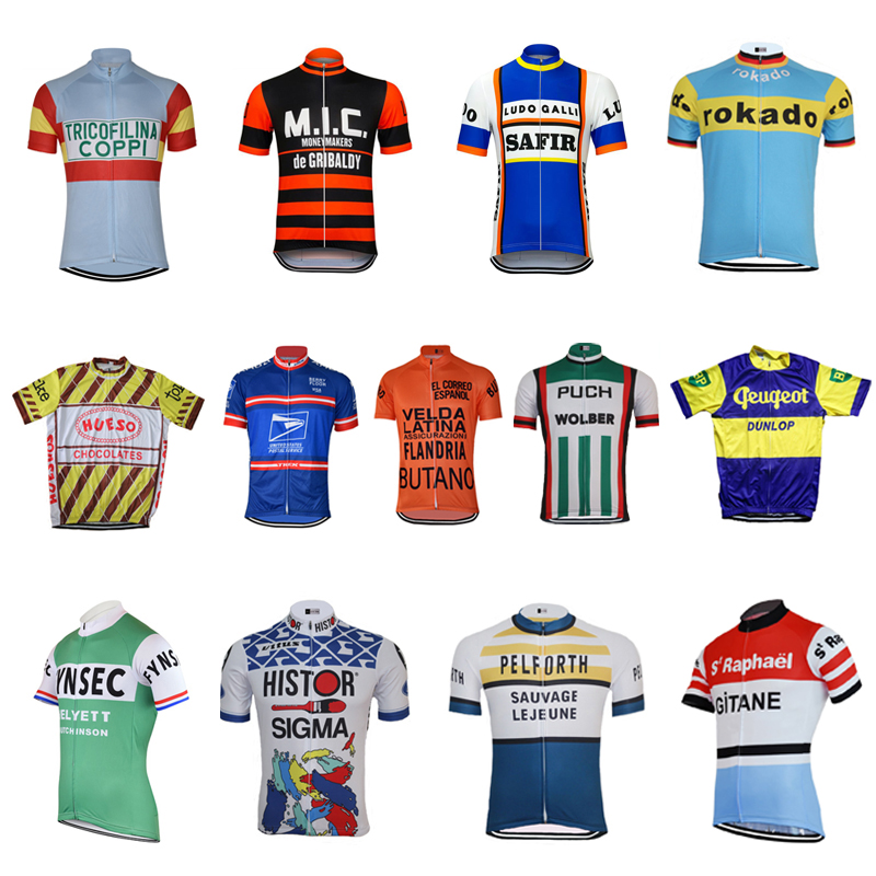 Multi Chooses Retro Classical NEW ROAD MOUNTAIN RACE Pro Bike Team Cycling Jersey Breathable Customized JIASHUO