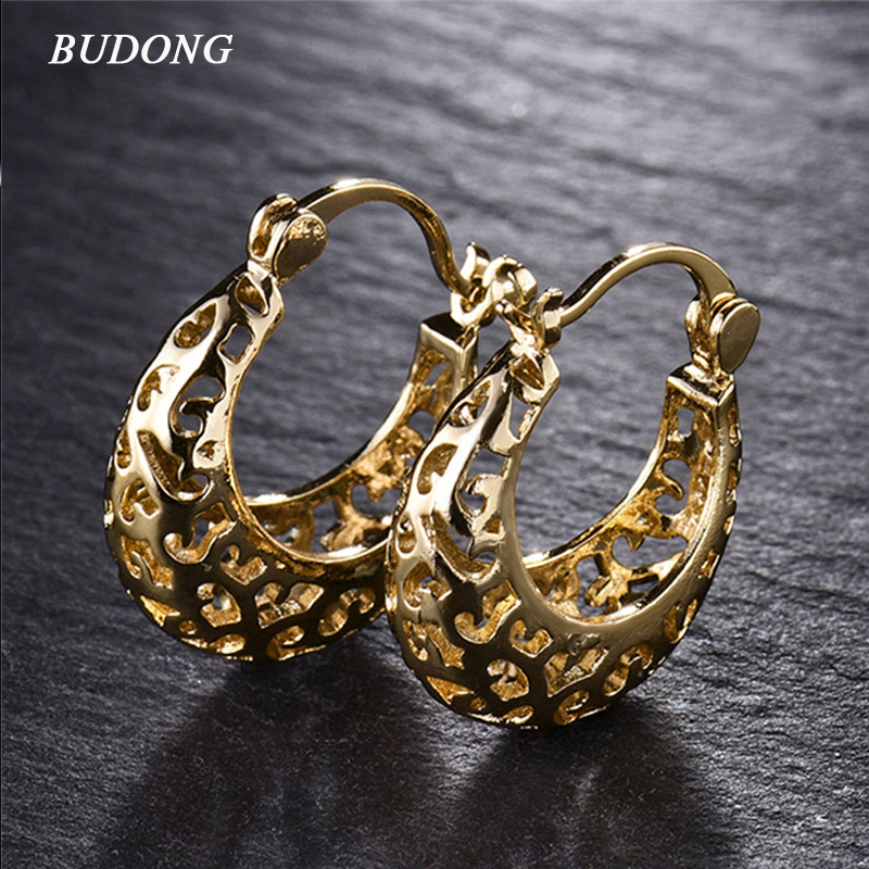 Bulk Snap Jewelry Aliexpress Buy Budong Basket Hoop Earrings For Women