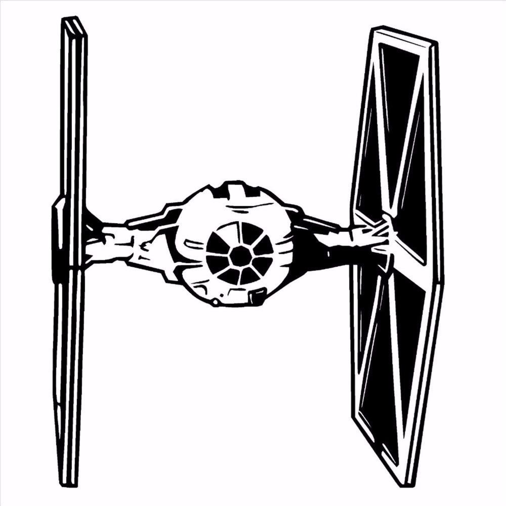 Star Wars Tie Fighter Wall Art Vinyl Sticker Room Decal