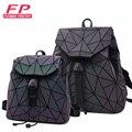 Женский школьный рюкзак с лазерной подсветкой, складной ученический ранец на плечо с голограммой для девочек-подростков