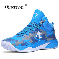 2019 Mens Basketball Sneakers 37-45 Kids Boys High Top Sneakers Boys Trainning Shoes Sport Basketball Blue Red Basketball Boots