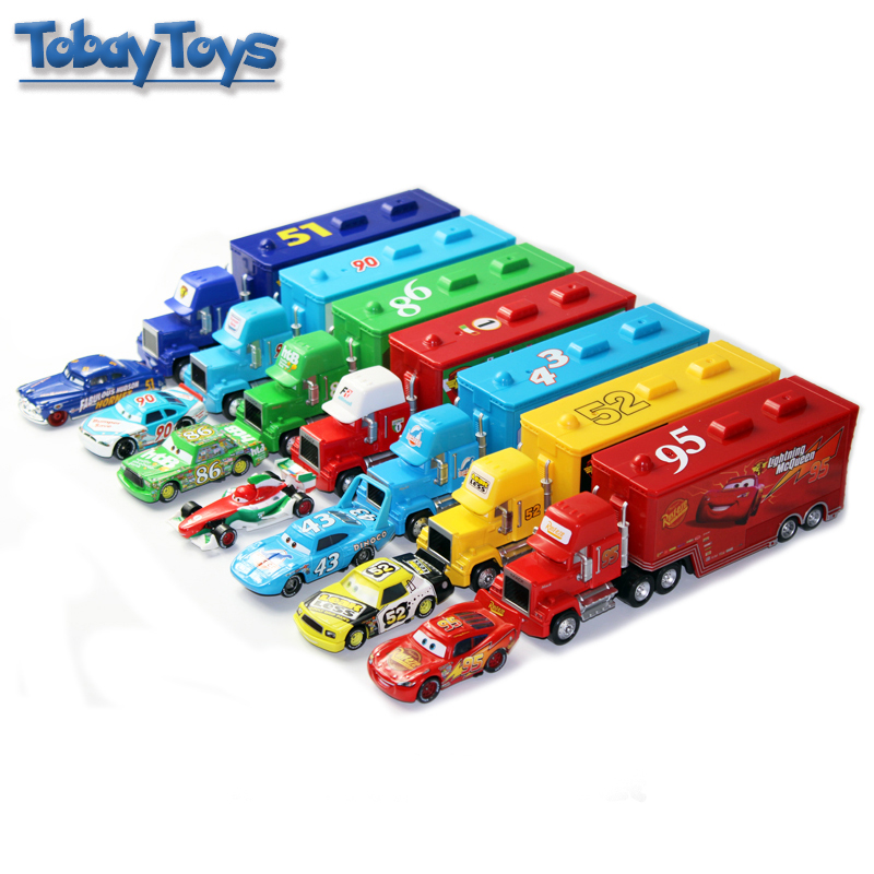 290b4a97bb12c US $20.6 29% OFF|Aliexpress.com : Buy Pixar Cars Mcqueen Mack Truck Toy 6  Style 6 Colors Wheel 1:55 Lighting Racing Cars3 Separable Transporter Truck  ...