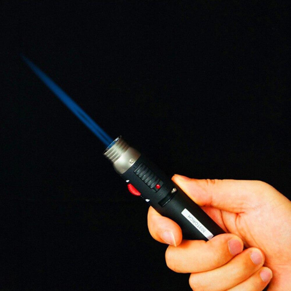 Taktische Camping BBQ Leichter Fackel Jet 1300 grad Celsius Flamme Bleistift Butan Gas Nachfüllbar Kraftstoff Schweißen Löten Feuer Stifte