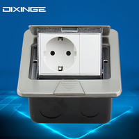 Power Charger German Standard Socket With Blank Key Universal Base Slot Panel Switch 16 A 250