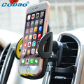 Универсальный держатель телефона стенд 360 регулируемая автомобилей air vent mount GPS автомобильный держатель мобильного телефона для iPhone 7 5S 6 s Плюс Samsung S7