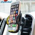 Universal car air vent mount holder soporte del teléfono 360 ajustable GPS coche soporte para teléfono móvil para el iphone 7 5S 6 s plus samsung S7