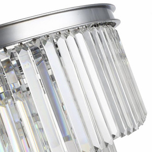 Image 5 - American Multi layer Crystal chandeliers light Hanging Light LED Chrome body Round  Living Room Sitting Retro Dining chandelier