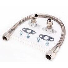Kinugawa Turbo Oil Drain Line Kit 35cm 10AN for Garrett GT28R GT30R GT35R Ball Bearing