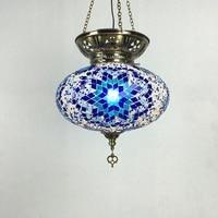Big size New style Turkey ethnic customs handmade lamp romantic cafe restaurant bar tree Pendant light bar Mosaic Pendant light