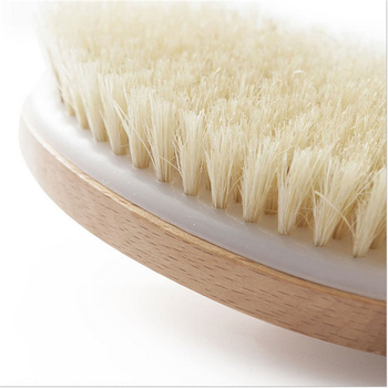 Bathroom Body Brushes Long Handle Bath Natural Bristles Brushes Exfoliating Massager With Wooden Handle Dry Brushing Shower Tool 4