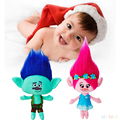 2 Шт. Троллей Мака и Филиал Плюшевые Куклы Хлопок Малыш Девушка Рождественский Подарок
