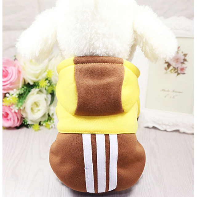 Pet Soft Winter Warm Pet Dog Clothes Sports Hoodies For Small Dogs Chihuahua Pug French Bulldog Clothing Puppy Dog Coat Jacket 3