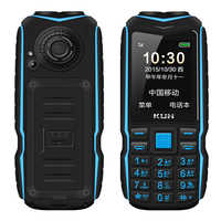 KUH Dual Flashlight 15800mAh Long Standby Power Bank Rugged Outdoor Telephone Shockproof Dual Sim Big Voice Russian Key Phone