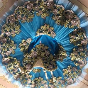 Image 4 - רויאל כחול אדום שחור מקצועי בלט טוטו ילד ילדים בנות בלט טוטו adulto נשים בלרינה מסיבת בלט mujer תחפושות