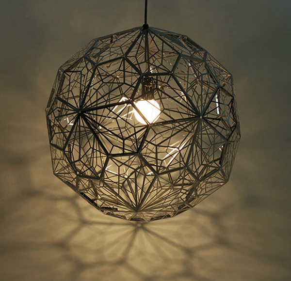 40CM Geometry Etch Web Pendant light Lamp Chandelier Ceiling Light Diamond Coffee Shop Cafe Bar Dining Room Hall Way Hotel Club vintage edison metal chandelier hanging light black silver gold finish ceiling lamp for cafe bar hall coffee shop club store