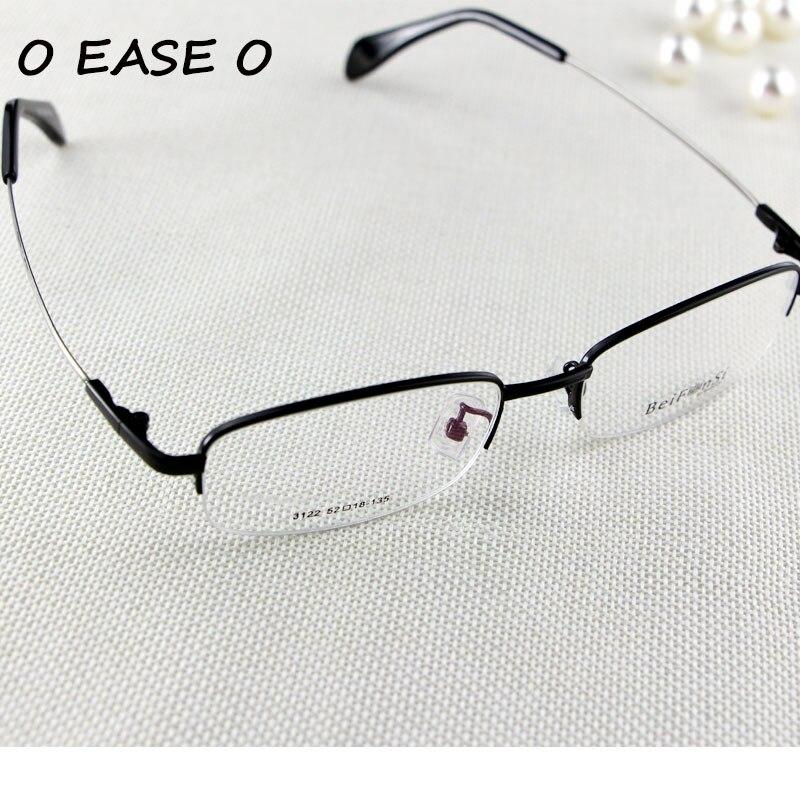 Setengah Bingkai Kacamata Logam Unisex Kacamata Memori Titanium Fleksibel  Nyaman Hitam Resep kacamata Frame 3122 di Kacamata Frame dari Aksesoris  Pakaian ... 5ee8ec0b95