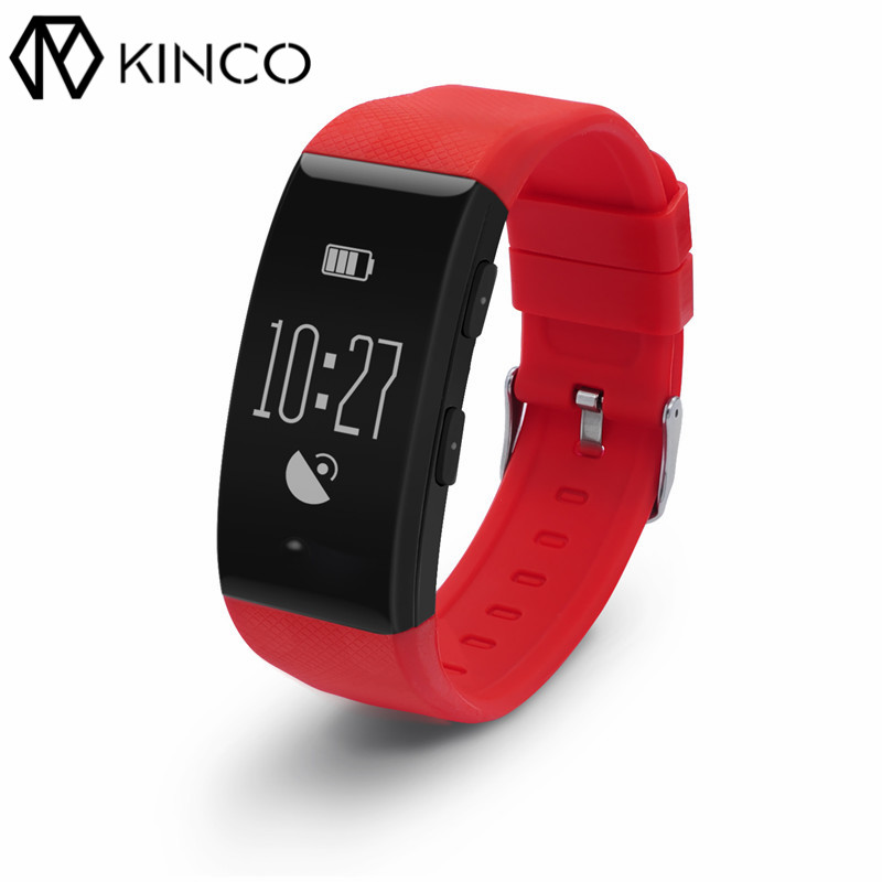 KINCO GPS Bluetooth Sports Color Screen Bracelet Waterproof Distance Steps Heart Rate Monitor Smart Wristband for IOS/Android ot01 2016 the latest style sports heart rate bracelet nfc smart bracelet fitness tracker for android ios