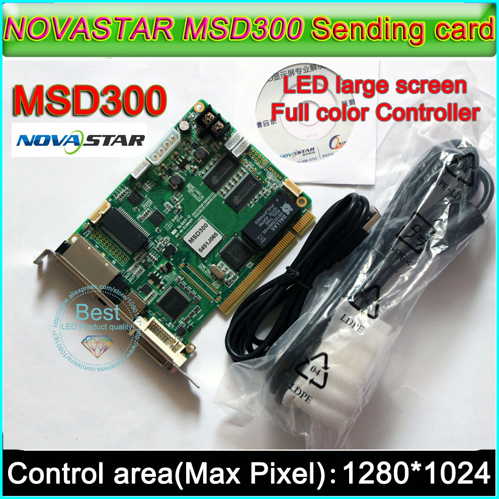 NOVASTAR MSD300 LED Display Sending Card,Outdoor And Indoor Full Color P2.5-P10-P20 LED Video Display Synchronous Controller