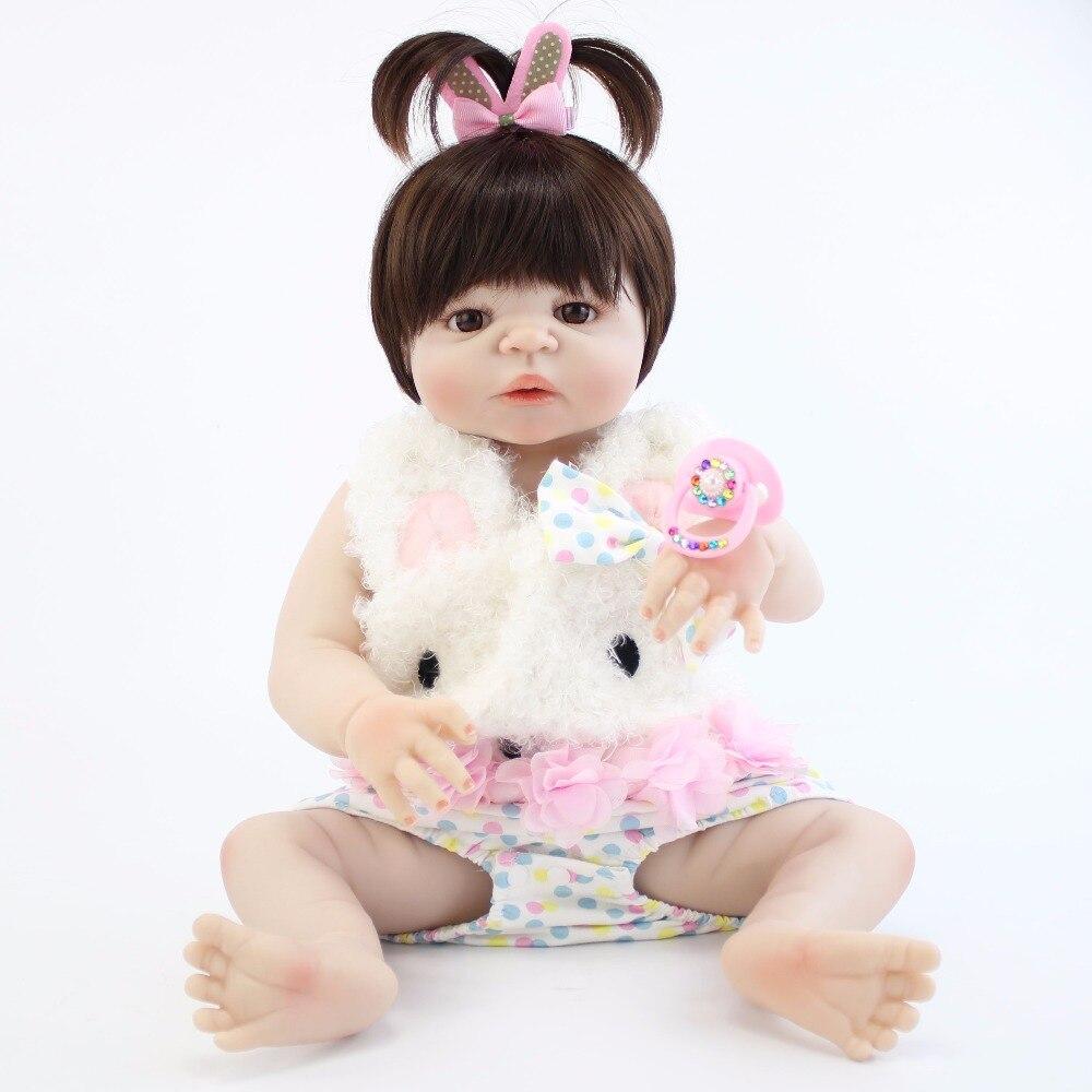 55 см полный силиконовый корпус возрождается детские игрушки куклы реалистичные 22 ''новорожденный принцессы для девочек младенцев кукла под...