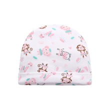 New 3 pcs/lot Baby Hats 100% Cotton Spring Baby Caps for Newborn Boy Girl Infantil Print Soft Baby Hat Accessories 0-3 Months