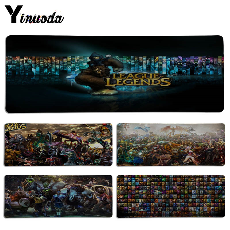 Yinuoda High Quality LOL Keyboard Gaming MousePads Size for 300*700*2mm and 300*900*2mm Game Mousepad