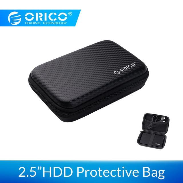 ORICO Lưu Trữ Bên Ngoài Ốp Lưng Cứng HDD SSD Túi 2.5 Công Suất Ngân Hàng Cáp USB Power Bank Tai Nghe Chụp Tai ốp lưng PHM Đen