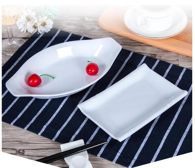 Hot sale white melamine plate irregular snack rice dish tray YF23 & Hot sale white melamine plate irregular snack rice dish tray YF23-in ...
