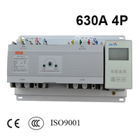 630A 4 Poles 3 Phase New Pattern Automatic Transfer Switch Ats With English Controller